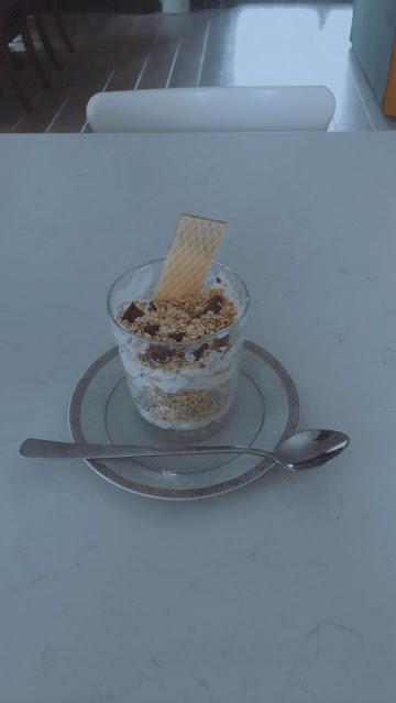 Healthy Oatmeal, Chocolate and Yogurt Dessert Easy Recipe