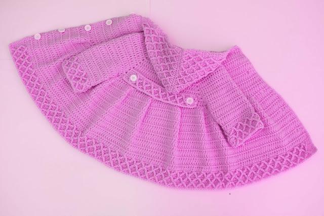 6 -Crochet Imagen Abrigo azul a crochet y ganchillo por Majovel Crochet
