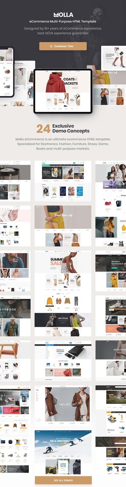 Molla - Multipurpose eCommerce HTML5 Template