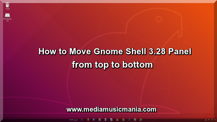 How to Move Gnome Shell 3.28 Panel Top to Bottom in Ubuntu 18.04