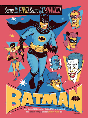 C2E2 2019 Exclusive Batman '66 Screen Print by Ian Glaubinger x All Star Press Chicago