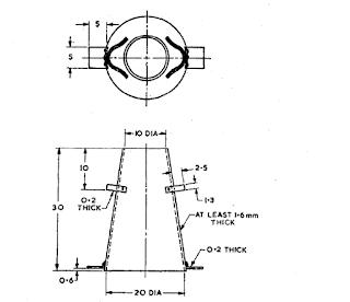 Slump test Apparatus for concrete  IS 1199:1959
