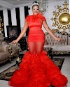 ACTRESS EVEESIN ROCK ON RED FASHION DESIGN DRESS WITH A S*XY BODY.