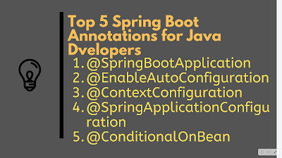 Top 5 Spring Boot Annotations with Examples for Java Developers
