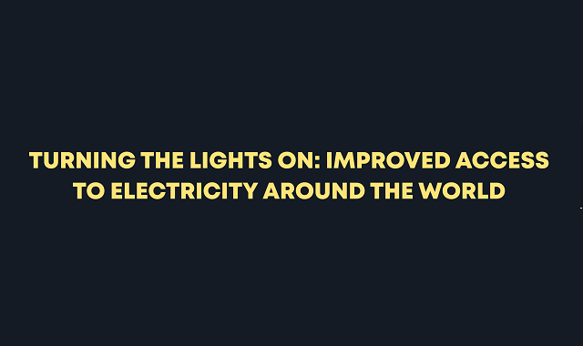 Electricity access around the world over the decade