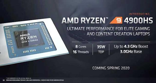 AMD Ryzen Mobile 4000 Series Detailed