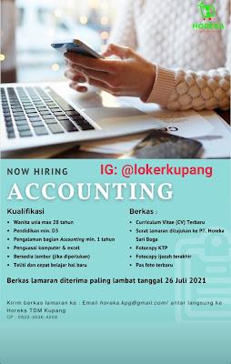 Lowongan Kerja Horeka TDM Kupang Sebagai Accounting
