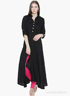 THE BEBO CREPE BLACK GOLDEN BUTTON
