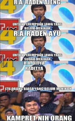 Siapa sih yang nggak tahu sosok stand up comedian yang satu ini Meme Lucu Dodit Mulyanto Dijamin Ngakak Sampe Guling-Guling