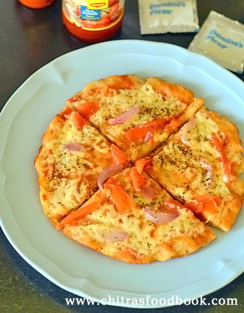 Wheat flour pizza / Atta pizza recipe