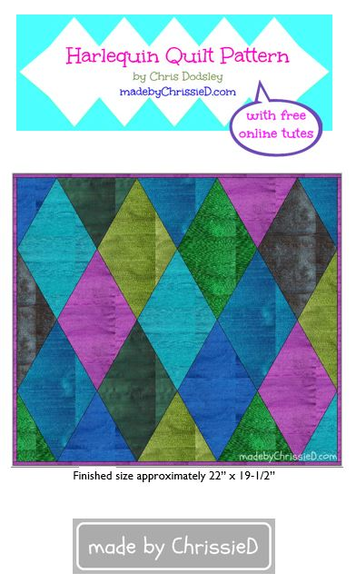 introducing harlequin quilt pattern + kit