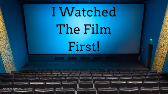 'I Watched The Film First!' projected on a screen at the front of a cinema