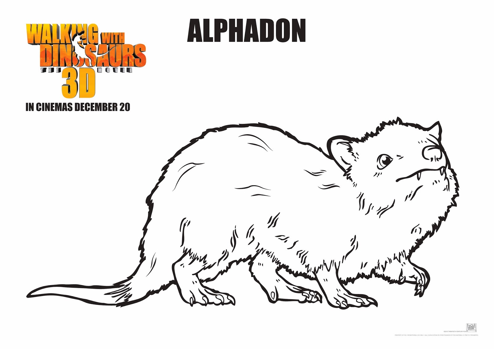 walking with dinosaurs coloring pages - photo #14