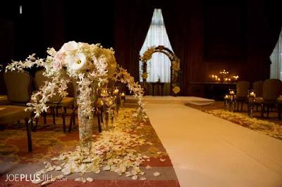 Fairmont wedding, Seattle's best wedding flowers, white orchids