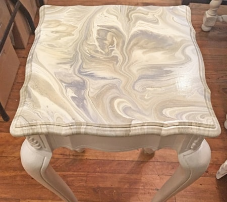 Marble tabletop Cottage Paint pour, Antweek studio