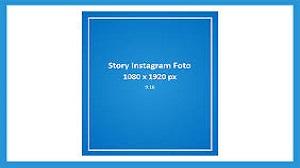 Template dan Ukuran Story Instagram (Instastory) Foto