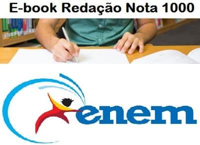 Imagem do E-book Redação Nota 1000