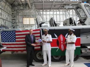 US donates Metal Shark patrol boats to the Kenyan Navy.