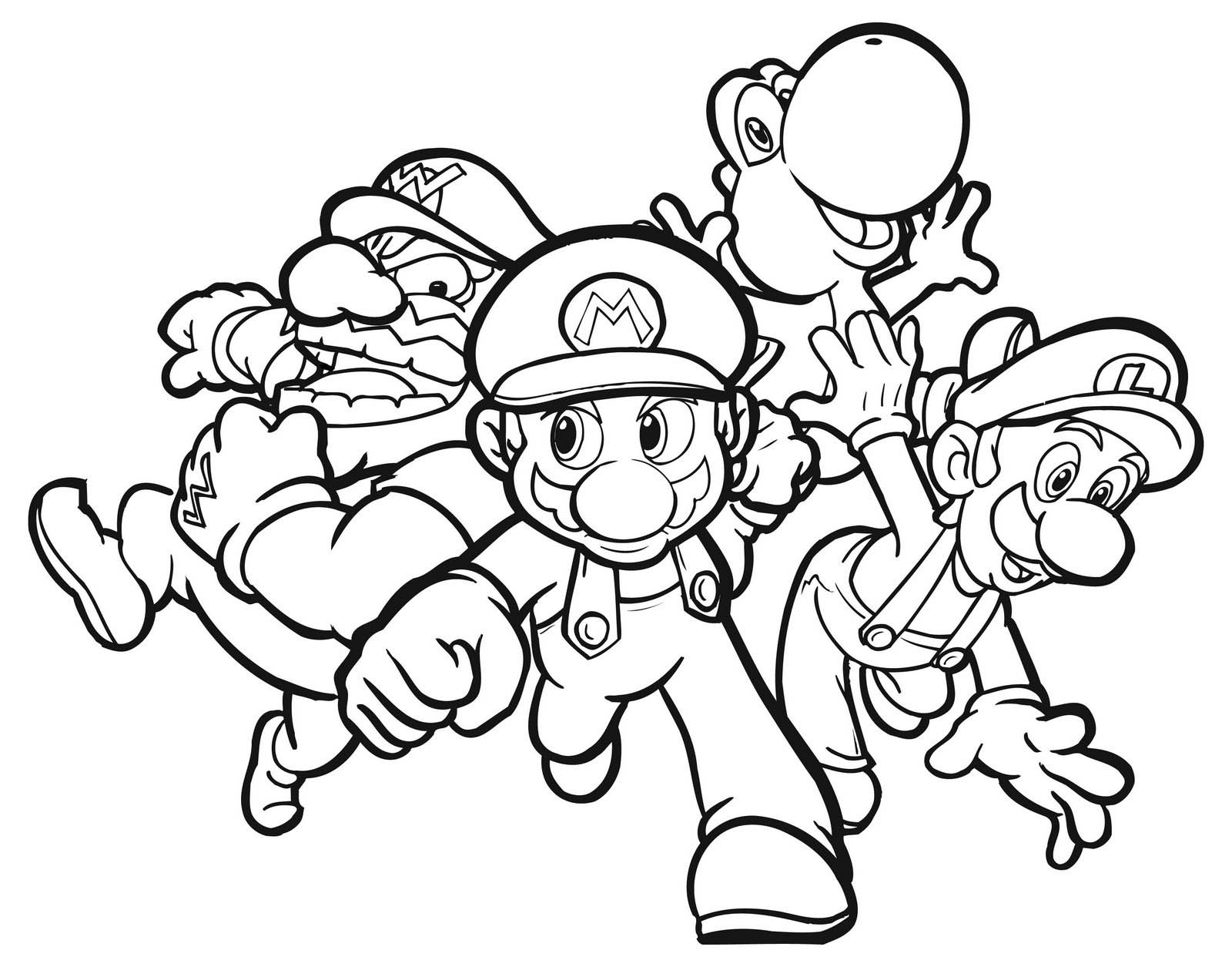 mario characters coloring pages - photo#16