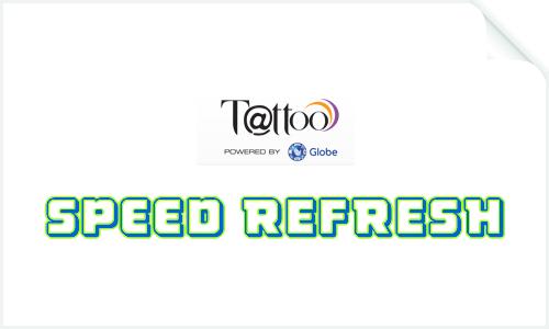How to register SPEED REFRESH Globe Tattoo