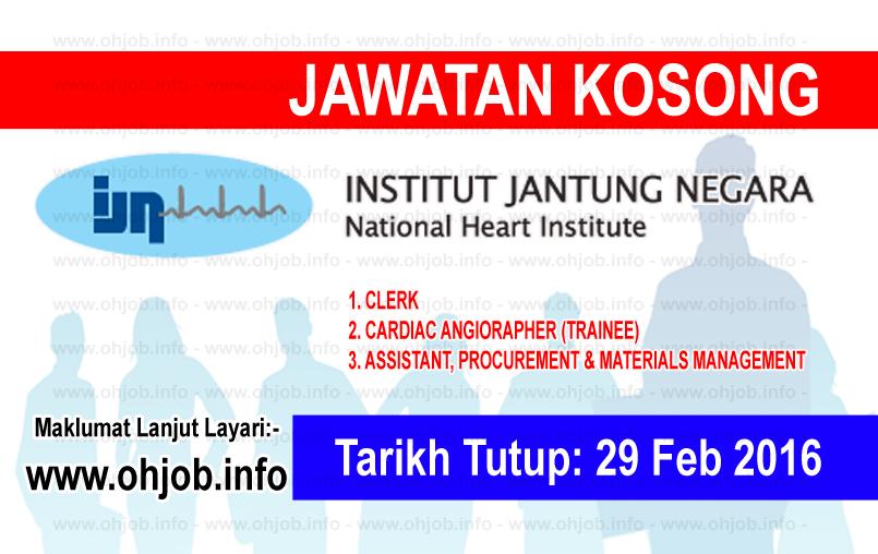 Jawatan Kerja Kosong Institut Jantung Negara (IJN) logo www.ohjob.info februari 2016