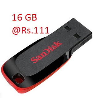 Loot OFfer - Sandisk 16GB Cruzer Blade Pen Drive at Just Rs.111 Only via Paytm