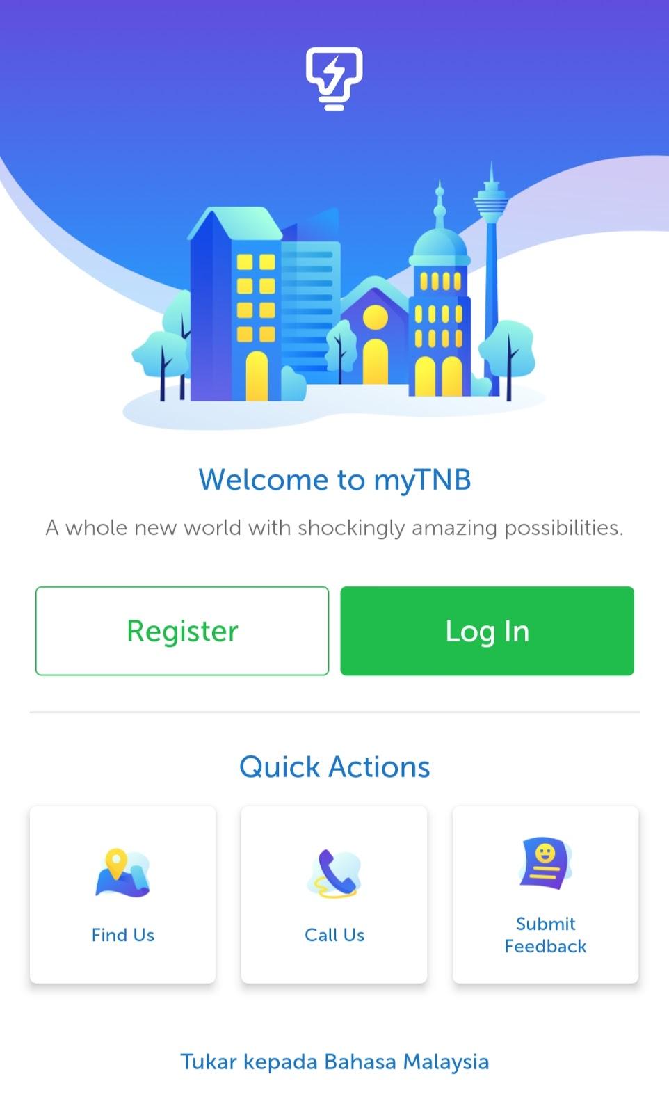 Semak dan Bayar Bil TNB Melalui Aplikasi myTNB