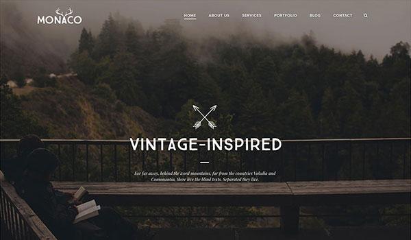 monaco-vintage-fullscreen-wordpress-theme