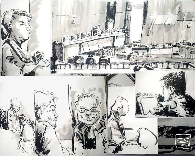 Δίκη χρυσής αυγής - Απολογία Λαγού - Ζωντανή καταγραφή σε σκίτσα - justice trial Live sketches