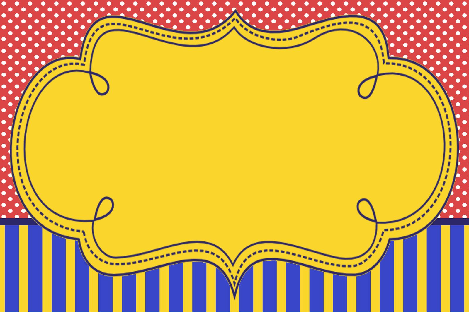Azul, Rojo y Amarillo: Invitaciones para Fiesta de 15 Años para ...