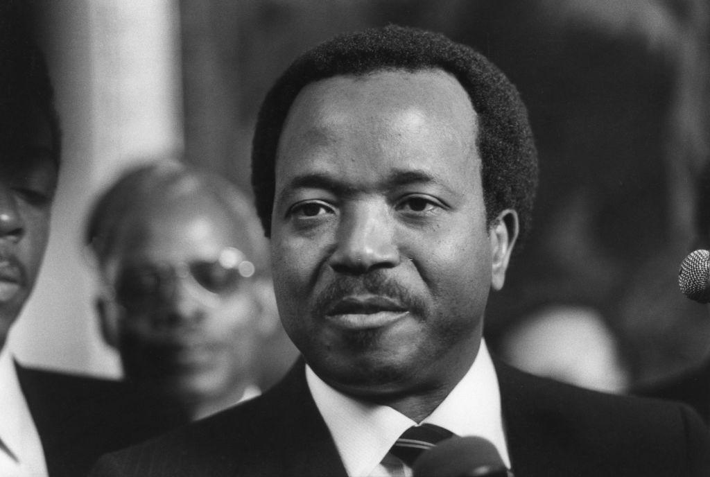 Portrait de Paul Biya, le président de la République du Cameroun. (Photo by Michel BARET/Gamma-Rapho via Getty Images)