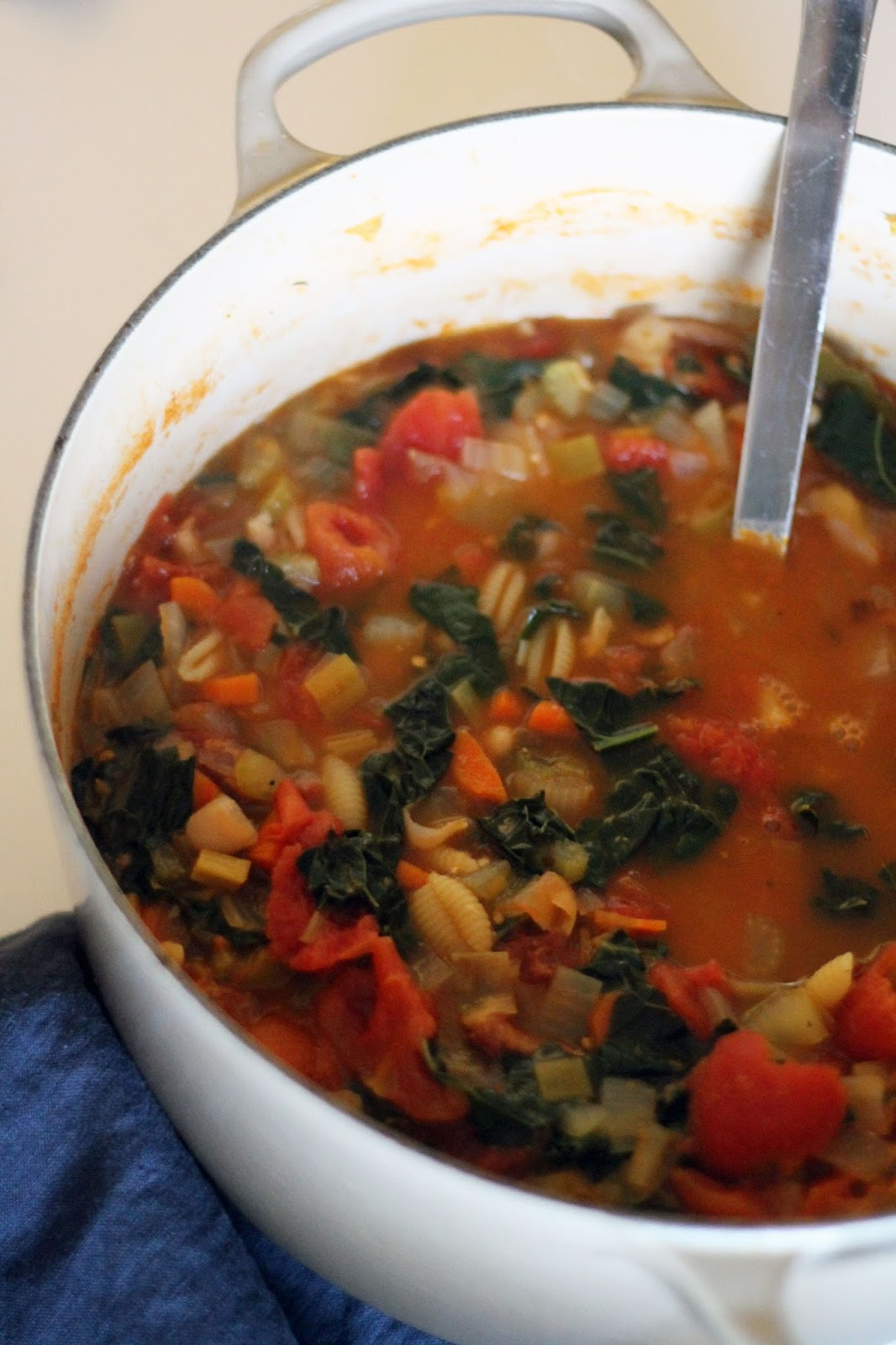 Elements of Katie : In the Kitchen: Minestrone with Pesto