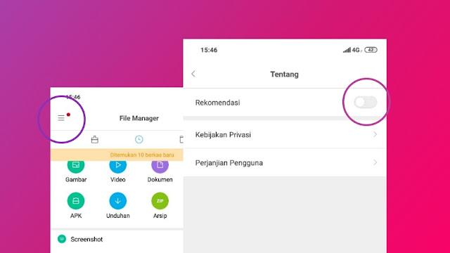Cara Menghilangkan Iklan Xiaomi