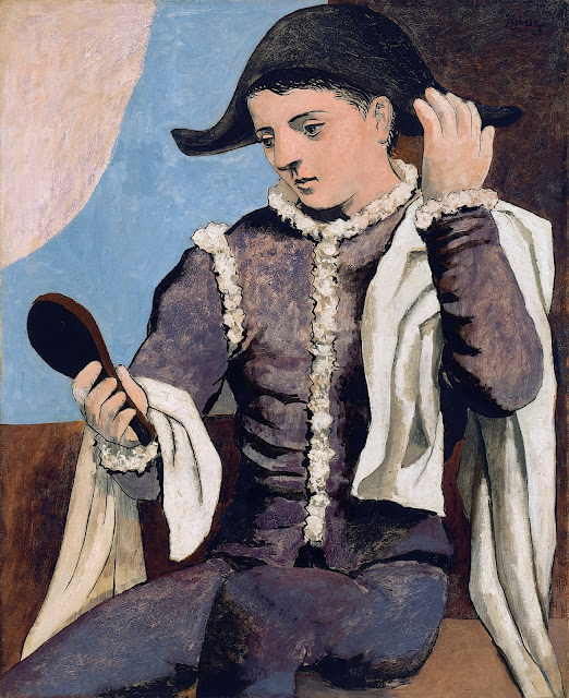 Pablo Picasso (1881-1973) Arlequín con espejo, 1923 (Arlequin au miroir, 1923) Museo nacional Thyssen Bornemisza.