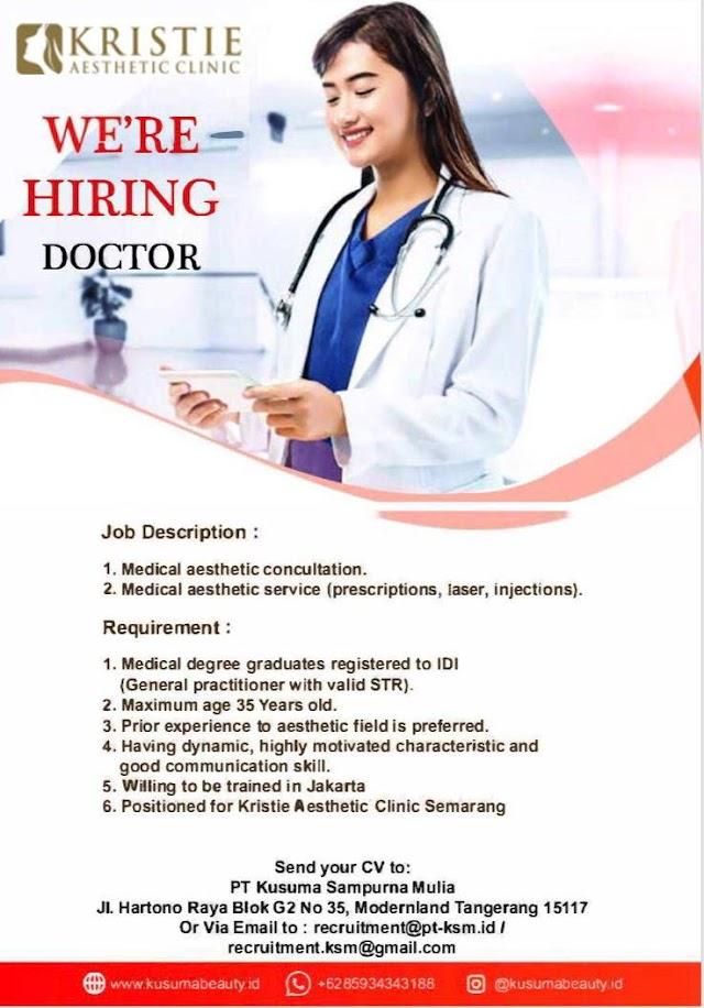 Loker Dokter KRISTIE Aesthetic Clinic