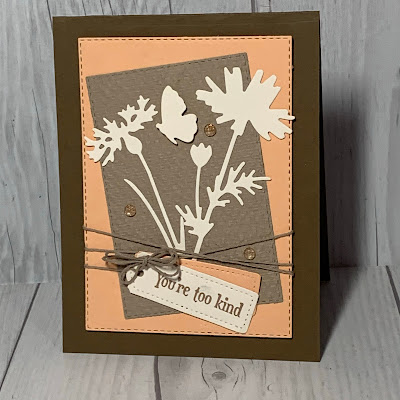 Floral handmade greeting carding using Stampin' Up! Quiet Meadow Stamp Set