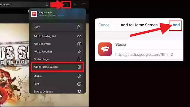 كيفية استخدام خدمة جوجل للألعاب Stadia في أجهزة آيفون وآيباد