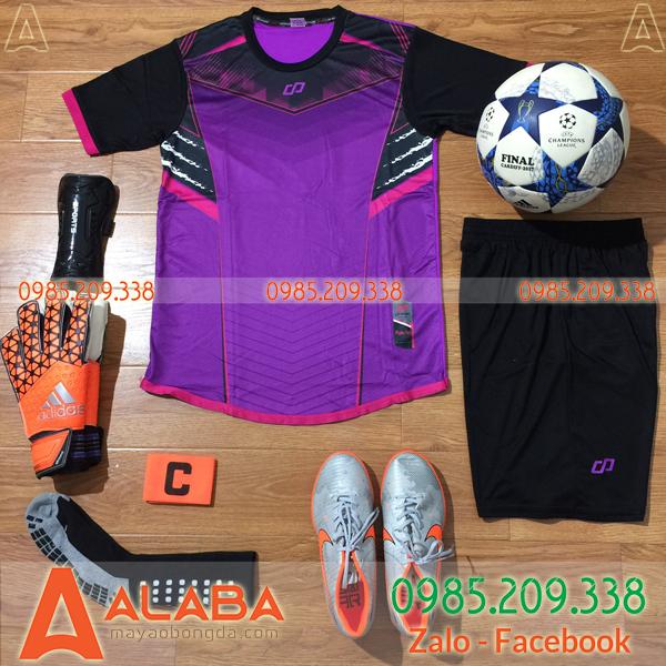Áo bóng đá không logo màu tím