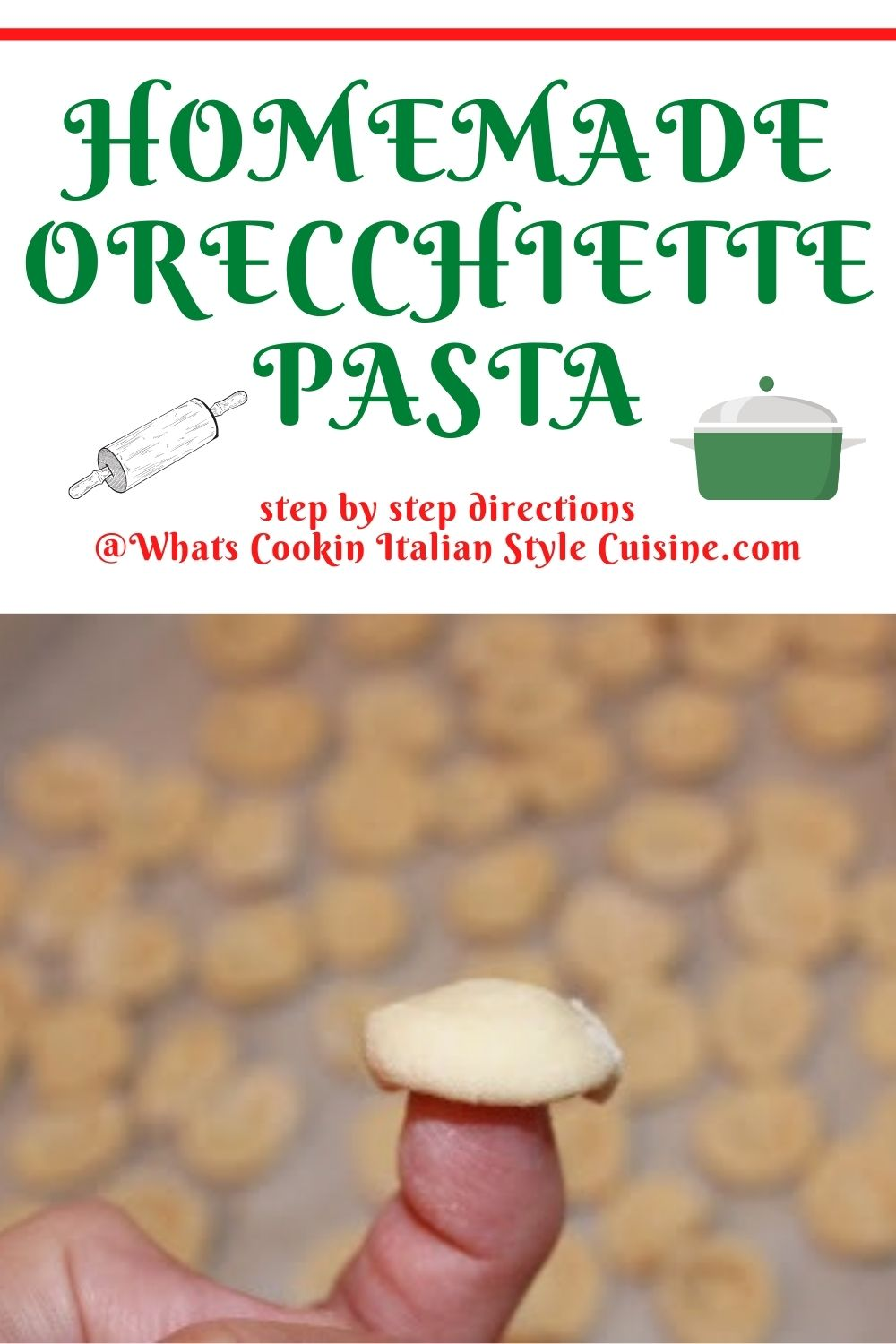 pin for later on how to make orecchiette pasta