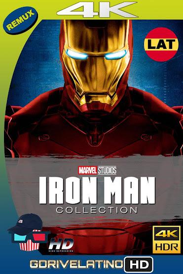 Iron Man Colección (2008-2013) BDRemux 4K HDR Latino-Ingles MKV