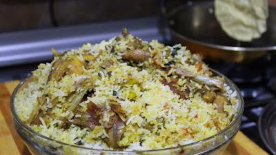 Leghorn Chicken biryani