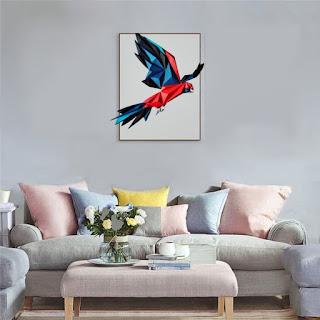 Burung Beo Warna Dekorasi Dinding Kertas 3D