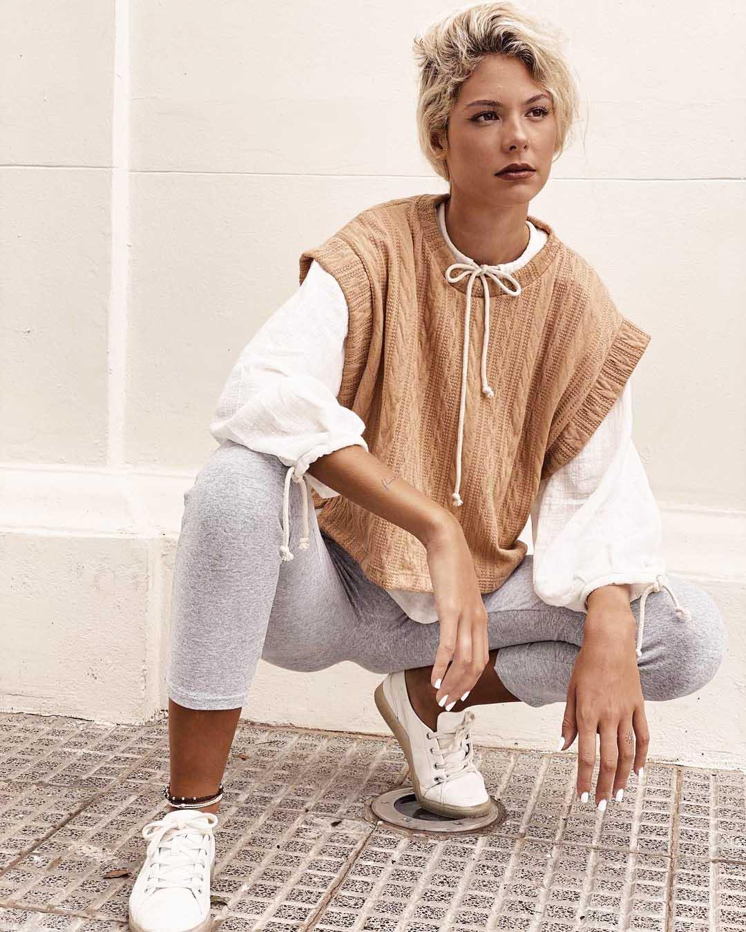 chaleco blusa y calza invierno 2021 mujer ropa de moda 2021