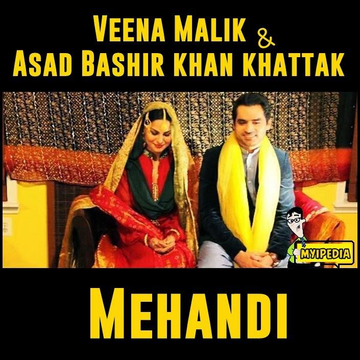 Veena Malik & Asad Bashir Khan Mehandi In US (Picture
