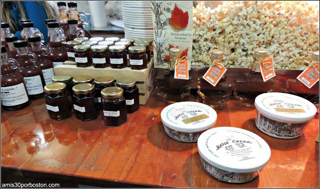 Productos de granja de sirope de arce de Massachusetts