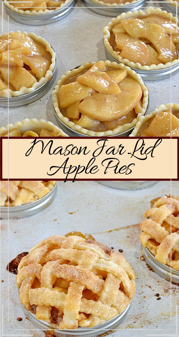 Mason Jar Lid Apple Pies #desserts #cakerecipe #chocolate #fingerfood #easy