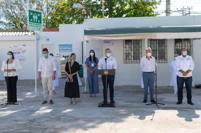 Hoy empieza el proceso de vacunación en La Guajira, y queremos que sea ágil, acelerado y que crezca exponencialmente: Duque