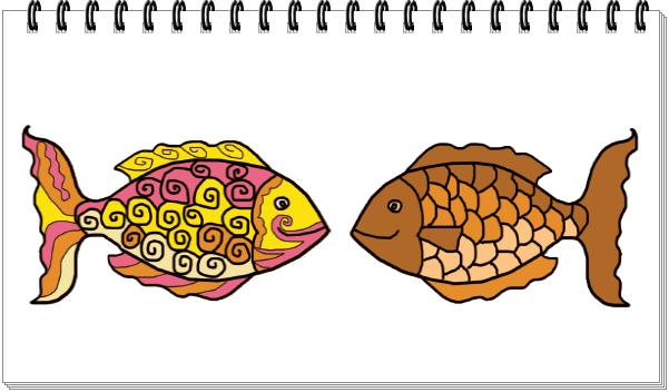 Dekoratif Motif Ikan