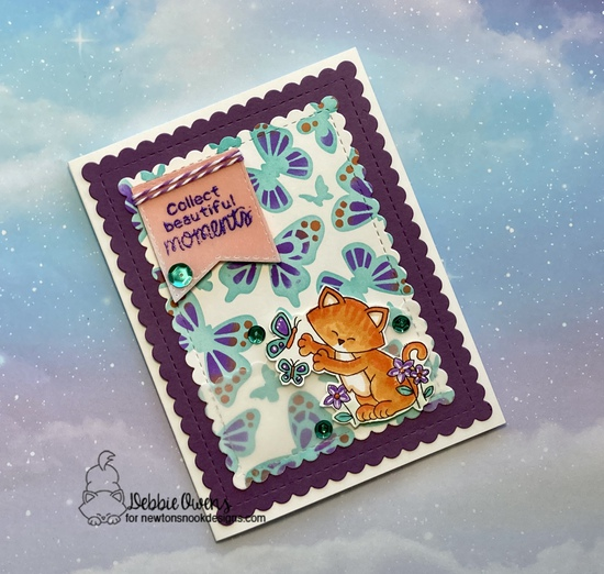 Collect beautiful moments by Debbie features Butterflies, Newton's Flower Garden, and Frames & Flags by Newton's Nook Designs; #newtonsnook