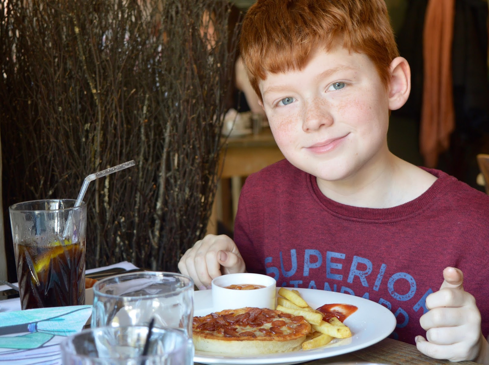The Northumberland Arms, Felton - kids pizza